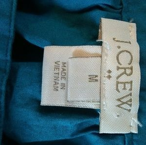 J. Crew Tops - J Crew teal green fall peasant blouse size medium